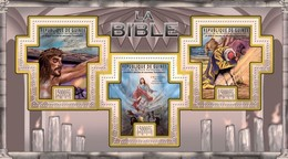 GUINEA 2011 SHEET THE BIBLE LA BIBLIA BIBEL BIBBIA OLD NEW TESTAMENTS RELIGION ART PAINTINGS Gu11310a - República De Guinea (1958-...)