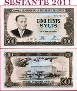 GUINEA - 500 SYLIS 1980 - P 27 - UNC - Guinea