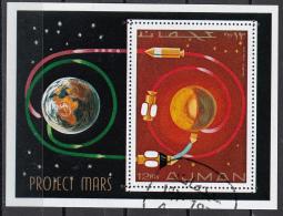 Bf. 232A Ajman 1971 Space Astronomia Progetto Marte Perf. Project Mars - FDC & Commemoratives