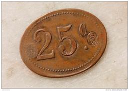 Emergency Token (25 Centavos Compagnie Des Salins Du Midi Pour Les Salines De Sal - Iles Du Cap Vert - Cabo-Verde - Monetary / Of Necessity