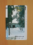 Japon Japan Free Front Bar, Balken Phonecard - 110-3510 / Temple / Winter, Hiver - Japan