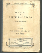 The Murder Of Delicia By Marie CORELLI, Collection Of British Autors Vol 3178 TAUCHNITZ Edition - Novels