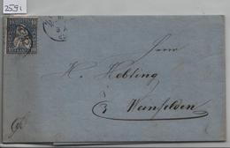 1862 Illustr. Rechnung (Meyer, Sibler & Comp. Porzellan) Von Zürich Nach Weinfelden 31/23 - 1862-1881 Sitzende Helvetia (gezähnt)