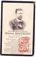 DP Foto Gemeenteraadslid Dokter Hilarius Boucquey ° Poperinge 1864 † Rumbeke Roeselare 1912 X Alice Sabbe - Images Religieuses