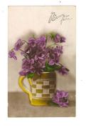 Bonne Fete - Bouquet De Fleurs Violettes En Pot - 1410 - Fêtes - Voeux