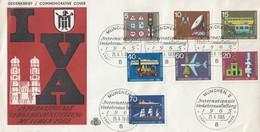 BRD Kpl. Satz Verkehrsausstellung 1965 - Erstausgabestempel - BRD