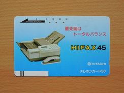Japon Japan Free Front Bar, Balken Phonecard - 110-3552 / Hitachi Hifax - Japan