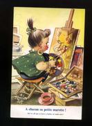 Humour Anglais, Illustrateur Taylor, Enfant, Peintre, A Chacun Sa Petite Marotte - Chevalet Peinture K 215 Bamforth - Taylor