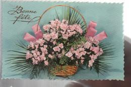 Cpsm St002785 Bonne Fête Panier Fleuri - Holidays & Celebrations