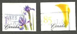 Sc. # 2081-82 Flower Yellow Calla Lily/Blue Iris Definitives Booklets 2004 Set Used  K172