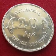 Maldives 20 Rupee 1977 FAO F.a.o. Fish - Maldives
