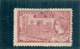 ERINNOPHILIE - Vignette Exposition Universelle PARIS 1900 - Non Gommé - ESPAGNE - Erinnophilie