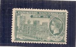 ERINNOPHILIE - Vignette Exposition Universelle PARIS 1900 - Non Gommé - ESPAGNE - Autres