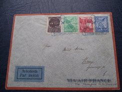 Air Mail 22.11.1933  Ljubljana France - 1931-1941 Kingdom Of Yugoslavia