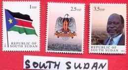 SOUTH SUDAN = MNH Complete 1st Set South Sudan, Including The Withdrawn 2.5 SSP = SOUDAN Du Sud Südsudan - Zuid-Soedan