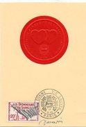 H426  Cm Donneurs De Sang 17 10 1959  Signée DECARIS - Maximum Cards
