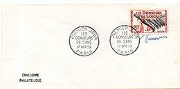 H427  FDC Donneurs De Sang 17 10 1959  Signée DECARIS - FDC