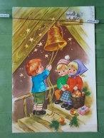 Kov 8 - New Year, Bonne Annee, Children, Enfants, Apple, Cloche, Bell - Nouvel An