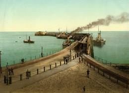 Royaume Uni Kent Douvres Dover Jetée De L'Amirauté Ancienne Photo Photochrom 1900 - Places