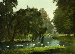 Royaume Uni Londres Hampton Court Park Ancienne Photo Photochrom 1900 - Places