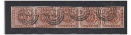 DANEMARK -4 S. EN BANDE DE 5 EXEMPLAIRES -- - 1851-63 (Frederik VII)