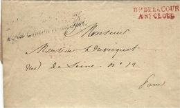 """11 Mai 1815 - Les Cent Jours - Franchise """" Bau DE LA COUR / A St CLOUD -en-tête,""""Chambre Du Roi """" - Marcophilie (Lettres)"""