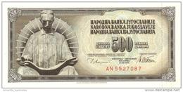 YOUGOSLAVIE 500 DINARA 1978 P-91a UNC  [YU091a] - Yugoslavia