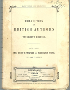 Mr WITT'S WIDOW By M Anthony HOPE, Collection Of British Autors Vol 2831 - Romans