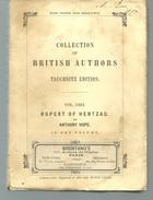 RUPERT OF HENTZAU By M Anthony HOPE, Collection Of British Autors Vol 3303 - Novelas