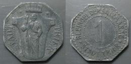 Jeton Allemagne Stadt Trier 1 Pfennig Zinc - Monétaires/De Nécessité