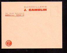 Enveloppe à Entête Vierge Quincaillerie J. Gamblin à Granville (50) Agent Caténa - France
