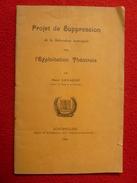 MONTPELLIER PROJET DE SUPPRESSION SUBVENTION MUNICIPALE POUR L'EXPLOITATION THEATRALE PAR HENRI LAVAGNE 1908 - Autres