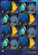 MICRONESIA  IGPC # 1442 SH ; MINT N H STAMPS OF WWF MARINE LIFE ; ORBICULAR BATFISH - Micronesia