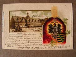 Cpa Verlag Von Richard Leipzig Passepartoutkarte Leipzig Kathaus Hotel De Ville - Leipzig