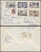 A469 France Lettre Recommandée De Hyères à Rumigny 1954 - France