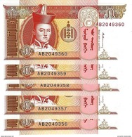 MONGOLIE 5 ТӨГРӨГ (TÖGRÖG) ND (1993) P-53 NEUF 5 PCS [MN405a] - Mongolia