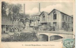 CORVOL L'ORGUEILLEUX - Fabrique De Papiers. - Otros Municipios