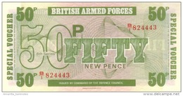 GREAT BRITAIN 50 NEW PENCE ND (1972) P-M49 UNC  [GBRM49] - Military Issues