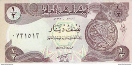 IRAQ 1/2 DINAR 1993 P-78b UNC LILAC UNDERPRINT [IQ335b]