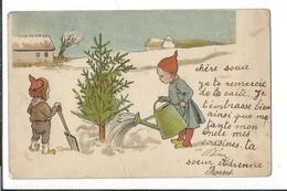 16692 -  Nains Deux Lutins Plantation D'un Sapin  ( Attention Carte Avec Pli) Cachet Bougy-Villars - Autres