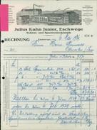 Eschwege, Julius Kahn Junior, Schirm- Und Spazierstockfabrik, Rechnung Vom 6.5.1929 (1000-38) - Allemagne