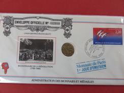 BICENTENAIRE De La REVOLUTION - Monnaie De Paris 1er Jour D'émission - 1989 Enveloppe Officielle Numérotée 052068 - Autres