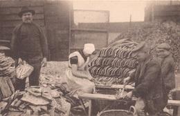 YERSEKE GEM. REIMERSWAAL CA. 1920 OESTERCULTUUR HUITRES VISSERIJ - JONGE OESTERS STEKEN ARBEIDERS KLEDERDRACHT - 2 SCANS - Yerseke