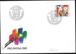 Svizzera/Suisse/Switzerland: Lettera, Lettre, Letter, (Pro Patria 1991) - Pro Patria