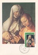 D29982 CARTE MAXIMUM CARD 1989 TURKS & CAICOS ISLANDS - VIRGIN AND CHILD BY DÜRER CP ORIGINAL