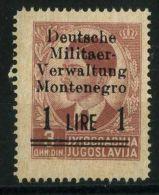 MONTENEGRO ( POSTE ) : Y&T N°  ?  TIMBRE  NEUF  SANS  TRACE  DE  CHARNIERE , A  VOIR . - Occupation 2ème Guerre Mond. (Italie)