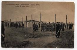 CARTE POSTALE Gefangenen-Lager Merseburg Krieg 1914(Lager Für 10 000 Mann) - Guerra 1914-18