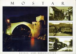 Bosnia And Herzegovina Bridge Mostar Via Macedonia.nice Stamp - The 100th Ann.of Birth Of Architect Juraj Najdhart. - Bosnien-Herzegowina
