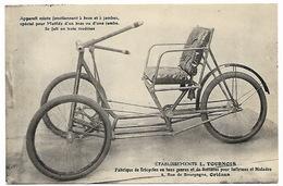 ORLEANS LOIRET  ETABLISSEMENTS TOURNOIS - Fabrique De Tricycles Et Voitures Pour Infirmes, Mutilés Et Handicapés - Altri