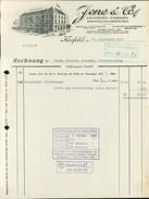 Krefeld, Jene & Co., Krawatten-Fabriken Krefeld-Saarbrücken, Rechnung Vom 27.9.1939 (4050-11) - Germany